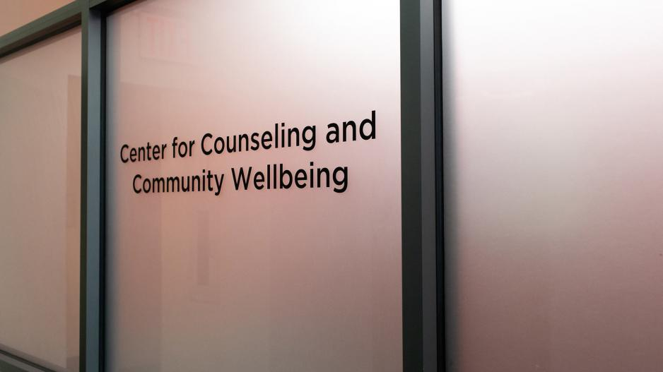 Sign for center for counseling and community wellbeing