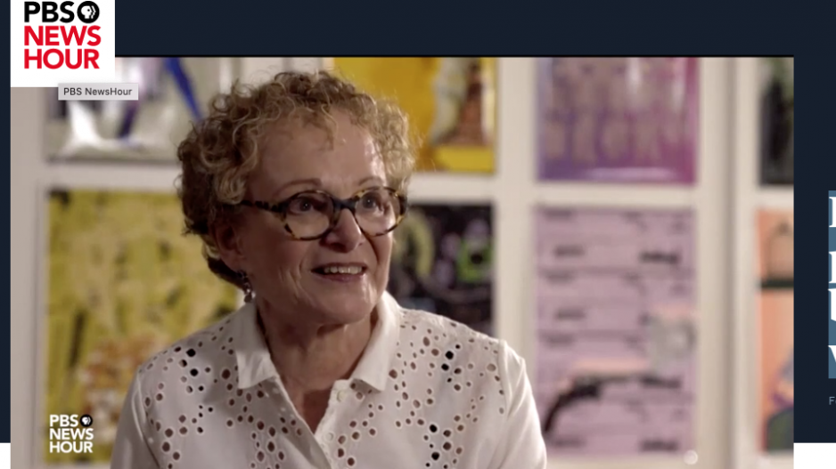 Screen grab of video featuring Susan Unterberg on PBS.
