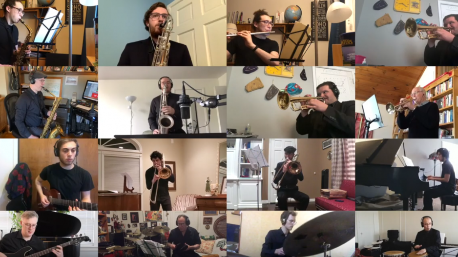 student musicians on zoom
