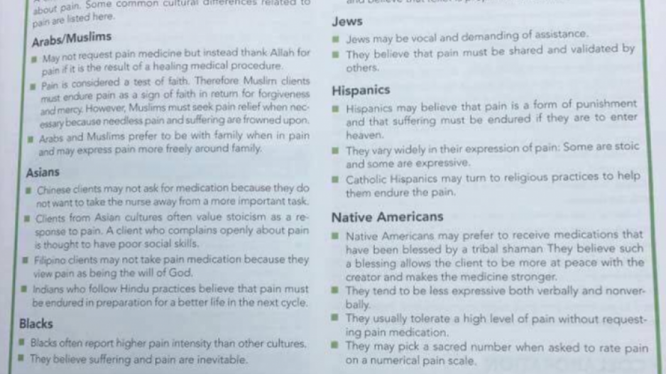 Sample of a racist text book that stereotypes cultural differences