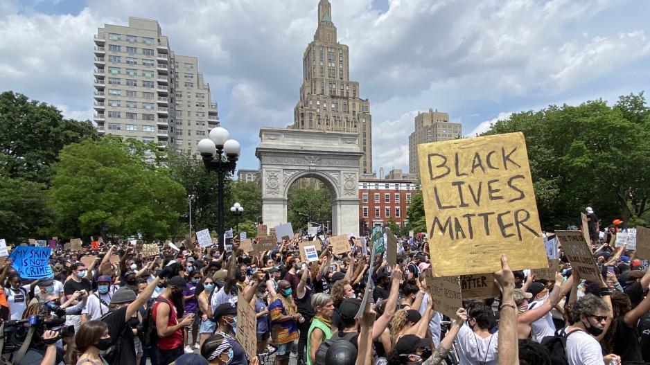 Black Lives Matter protest in Washington Square Park