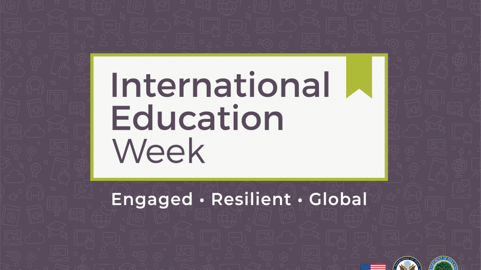 Logo for International Education Week