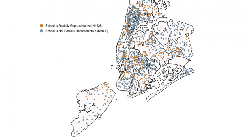 Map of Desegregation in NYC
