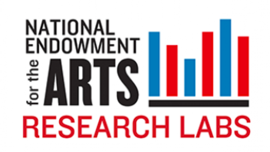National Endowment for the Arts Research Lab logo with bar graph image