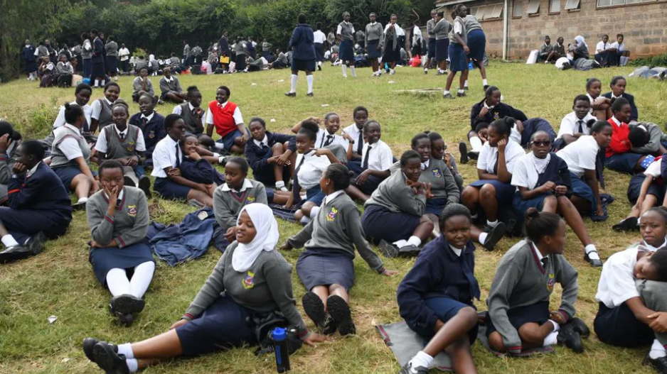 Students of St. George's Girls' Secondary School in Nairobi.