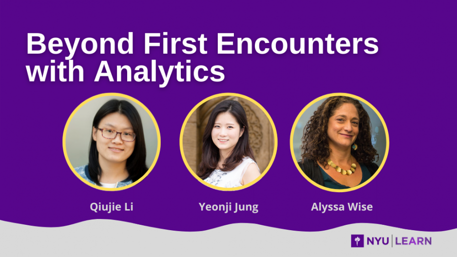 Beyond First Encounters with Analytics, Qiujie Li, Yeonji Jung and Alyssa Wise