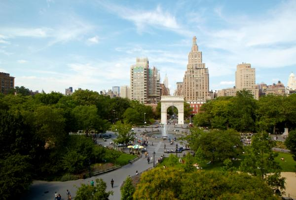 Aerial View of Washington Square Park