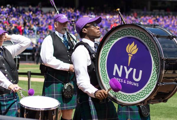 NYU Pipes and Drums Ensemble Performance