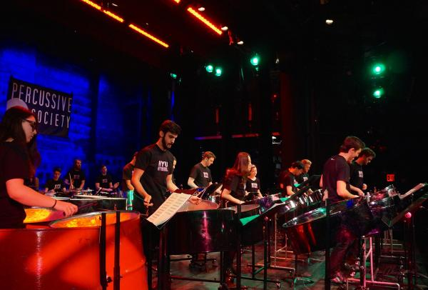 Percussion ensemble performance